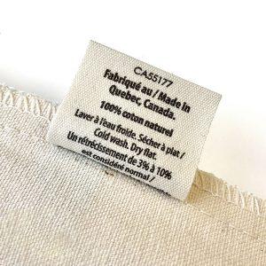 cdv produit ecoresponsable sac en coton etiquette